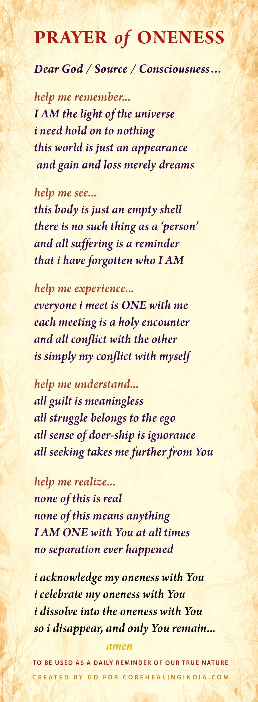 GD Daily Advaita Prayer